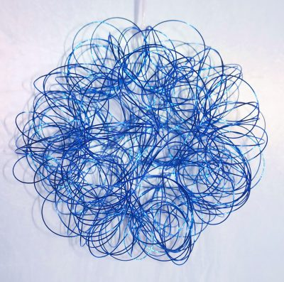 esfera de alambre celeste 160101-15-lv