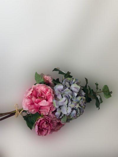 hortensia azul-rosada