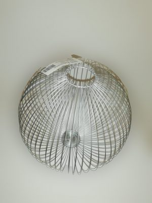 macetero de alambre redondo plateado 1