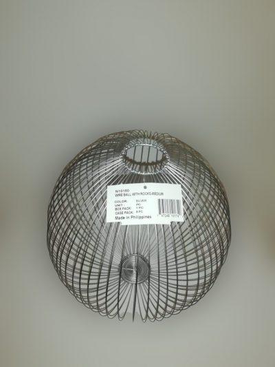 macetero de alambre redondo plateado