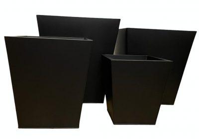 macetero conico negro 5504
